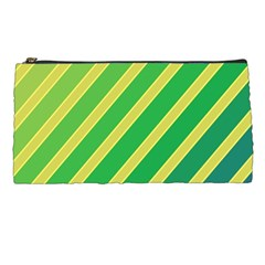 Green and yellow lines Pencil Cases