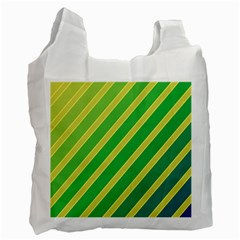 Green and yellow lines Recycle Bag (Two Side)