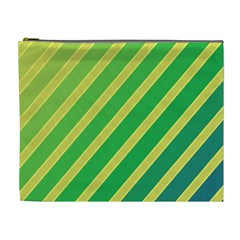 Green and yellow lines Cosmetic Bag (XL)
