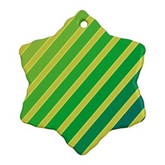 Green and yellow lines Snowflake Ornament (2-Side)