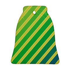 Green and yellow lines Bell Ornament (2 Sides)