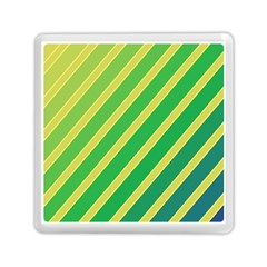 Green and yellow lines Memory Card Reader (Square)