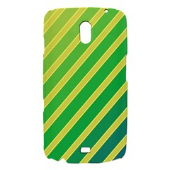 Green and yellow lines Samsung Galaxy Nexus i9250 Hardshell Case