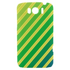 Green and yellow lines HTC Sensation XL Hardshell Case
