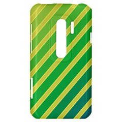 Green and yellow lines HTC Evo 3D Hardshell Case