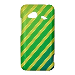 Green and yellow lines HTC Droid Incredible 4G LTE Hardshell Case