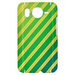 Green and yellow lines HTC Desire HD Hardshell Case