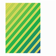 Green and yellow lines Small Garden Flag (Two Sides)