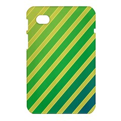 Green and yellow lines Samsung Galaxy Tab 7  P1000 Hardshell Case