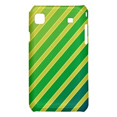 Green and yellow lines Samsung Galaxy S i9008 Hardshell Case