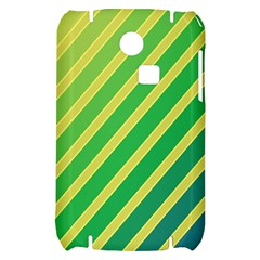 Green and yellow lines Samsung S3350 Hardshell Case