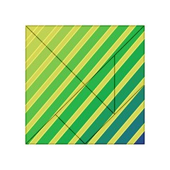 Green and yellow lines Acrylic Tangram Puzzle (4  x 4 )