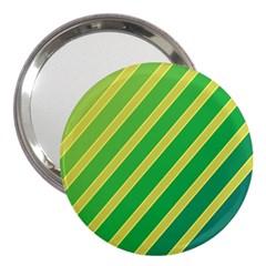 Green and yellow lines 3  Handbag Mirrors