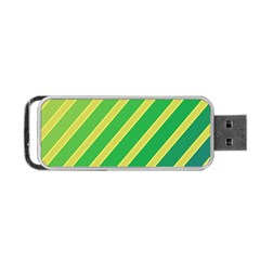 Green and yellow lines Portable USB Flash (Two Sides)