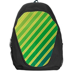 Green and yellow lines Backpack Bag
