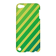 Green and yellow lines Apple iPod Touch 5 Hardshell Case