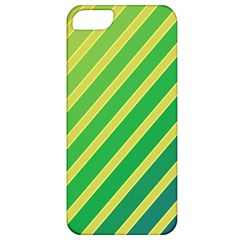 Green and yellow lines Apple iPhone 5 Classic Hardshell Case