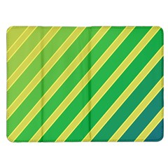 Green and yellow lines Kindle Fire (1st Gen) Flip Case