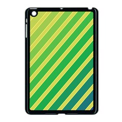 Green and yellow lines Apple iPad Mini Case (Black)