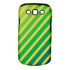 Green and yellow lines Samsung Galaxy S III Classic Hardshell Case (PC+Silicone)