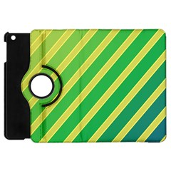 Green and yellow lines Apple iPad Mini Flip 360 Case
