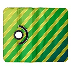 Green and yellow lines Samsung Galaxy Note II Flip 360 Case