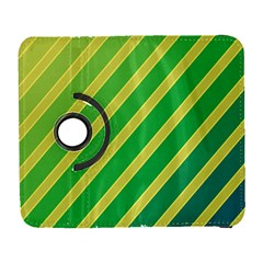 Green and yellow lines Samsung Galaxy S  III Flip 360 Case