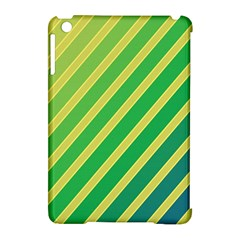 Green and yellow lines Apple iPad Mini Hardshell Case (Compatible with Smart Cover)