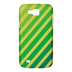 Green and yellow lines Samsung Galaxy Premier I9260 Hardshell Case