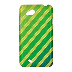 Green and yellow lines HTC Desire VC (T328D) Hardshell Case