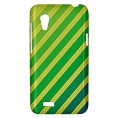 Green and yellow lines HTC Desire VT (T328T) Hardshell Case