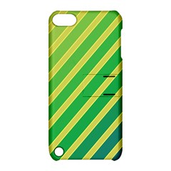 Green and yellow lines Apple iPod Touch 5 Hardshell Case with Stand