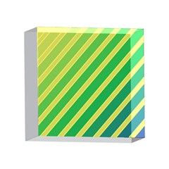 Green and yellow lines 4 x 4  Acrylic Photo Blocks