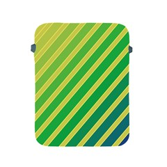 Green and yellow lines Apple iPad 2/3/4 Protective Soft Cases