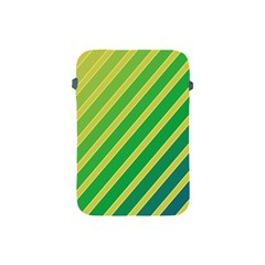 Green and yellow lines Apple iPad Mini Protective Soft Cases