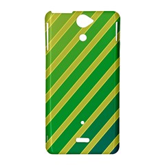 Green and yellow lines Sony Xperia V