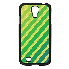 Green and yellow lines Samsung Galaxy S4 I9500/ I9505 Case (Black)