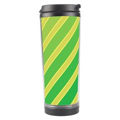 Green and yellow lines Travel Tumbler