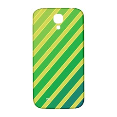 Green and yellow lines Samsung Galaxy S4 I9500/I9505  Hardshell Back Case