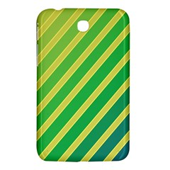 Green and yellow lines Samsung Galaxy Tab 3 (7 ) P3200 Hardshell Case