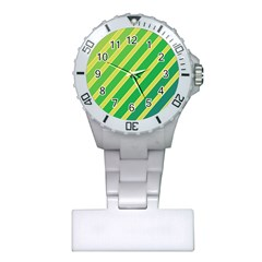Green and yellow lines Plastic Nurses Watch