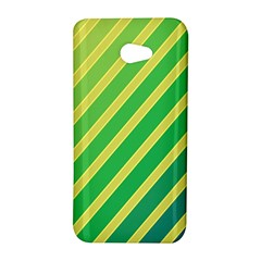 Green and yellow lines HTC Butterfly S/HTC 9060 Hardshell Case