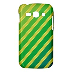 Green and yellow lines Samsung Galaxy Ace 3 S7272 Hardshell Case