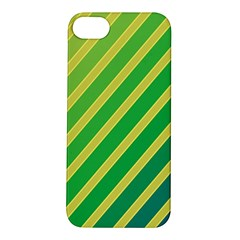 Green and yellow lines Apple iPhone 5S/ SE Hardshell Case