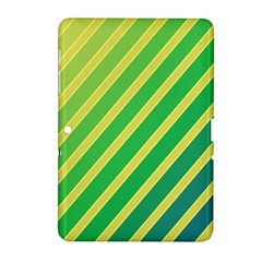 Green and yellow lines Samsung Galaxy Tab 2 (10.1 ) P5100 Hardshell Case