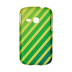 Green and yellow lines Samsung Galaxy S6310 Hardshell Case