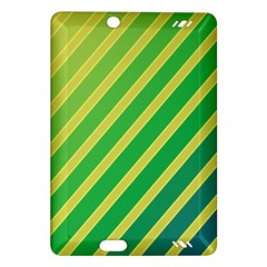 Green and yellow lines Amazon Kindle Fire HD (2013) Hardshell Case