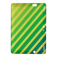 Green and yellow lines Kindle Fire HDX 8.9  Hardshell Case
