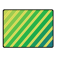 Green and yellow lines Double Sided Fleece Blanket (Small)