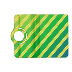 Green and yellow lines Kindle Fire HD (2013) Flip 360 Case